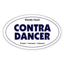 Contra Dancer Vinyl Oval Bumper Decal