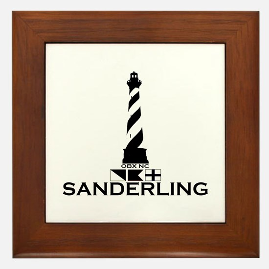 Sanderling NC - Lighthouse Design Framed Tile