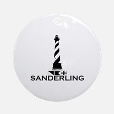 Sanderling NC - Lighthouse Design Ornament (Round)