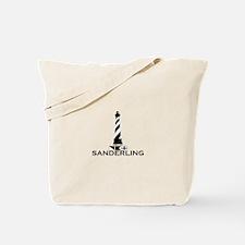 Sanderling NC - Lighthouse Design Tote Bag