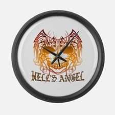 Hell's Angel Large Wall Clock