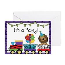 Jungle Train Invites Greeting Card