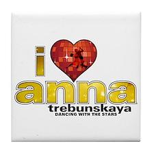 I Heart Anna Trebunskaya Tile Coaster