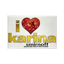 I Heart Karina Smirnoff Rectangle Magnet