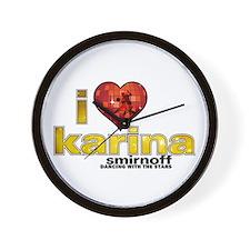 I Heart Karina Smirnoff Wall Clock