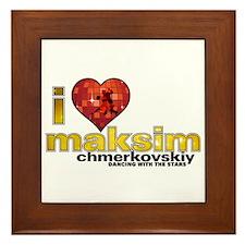 I Heart Maksim Chmerkovskiy Framed Tile