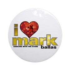 I Heart Mark Ballas Round Ornament