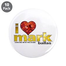 "I Heart Mark Ballas 3.5"" Button (10 pack)"