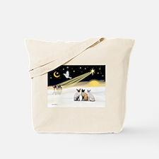 XmasDove-3 Siamese cats Tote Bag