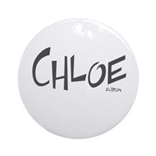Chloe Ornament (Round)