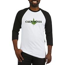 California Marijuana Leaf Baseball Jersey