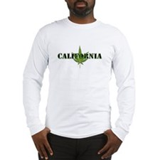 California Marijuana Leaf Long Sleeve T-Shirt
