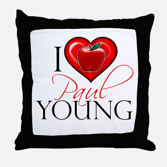 I Heart Paul Young Throw Pillow