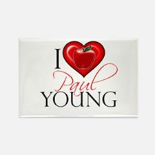 I Heart Paul Young Rectangle Magnet