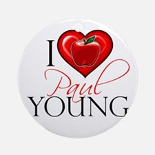 I Heart Paul Young Round Ornament