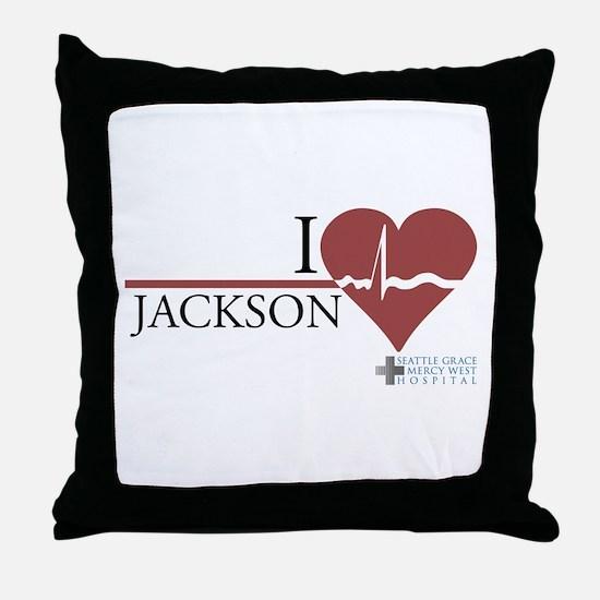I Heart Jackson - Grey's Anatomy Throw Pillow