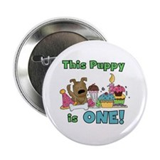 "1st Puppy Birthday 2.25"" Button"