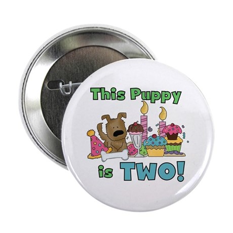 "2nd Puppy Birthday 2.25"" Button"