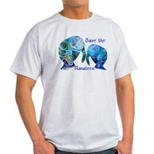 Save The Manatees in Blues T-Shirt