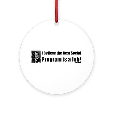 Ronald Reagan Quote Ornament (Round)