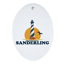 Sanderling NC - Lighthouse Design Ornament (Oval)