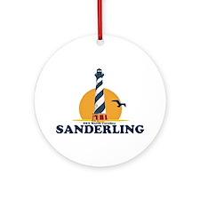 Sanderling NC - Lighthouse Design Ornament (Round)