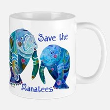 Save The Manatees in Blues Mug