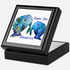 Save The Manatees in Blues Keepsake Box