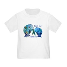 Save The Manatees in Blues T