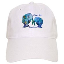 Save The Manatees in Blues Baseball Cap