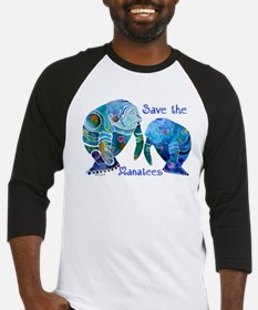 Save The Manatees in Blues Baseball Jersey