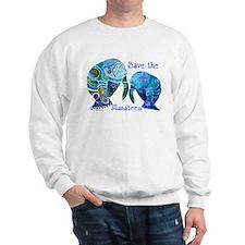 Save The Manatees in Blues Sweatshirt
