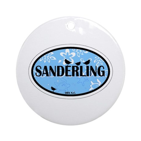 Sanderling NC - Oval Design Ornament (Round)