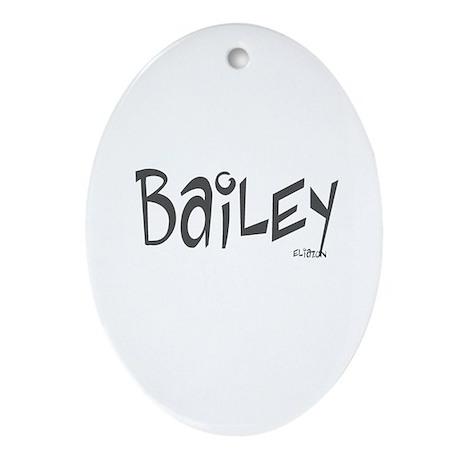 Bailey Oval Ornament