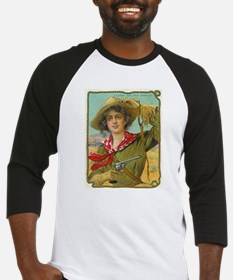 Cool Vintage Cowgirl Baseball Jersey