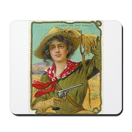 Cool Vintage Cowgirl Mousepad