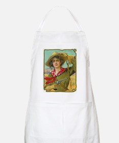 Cool Vintage Cowgirl BBQ Apron