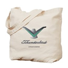T Bird Emblem with Script Tote Bag