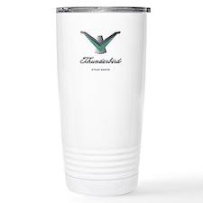 T Bird Emblem with Script Travel Mug