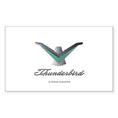T Bird Emblem with Script Decal