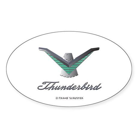 T Bird Emblem with Script Sticker (Oval)