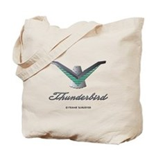 T Bird Emblem with Script Tote Bag