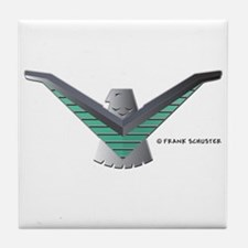 T Bird Emblem Bird Tile Coaster