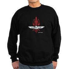 T Bird Emblem Pinstripes Sweatshirt