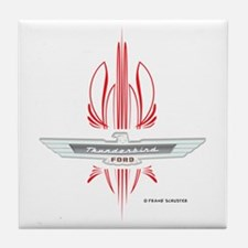 T Bird Emblem Pinstripes Tile Coaster