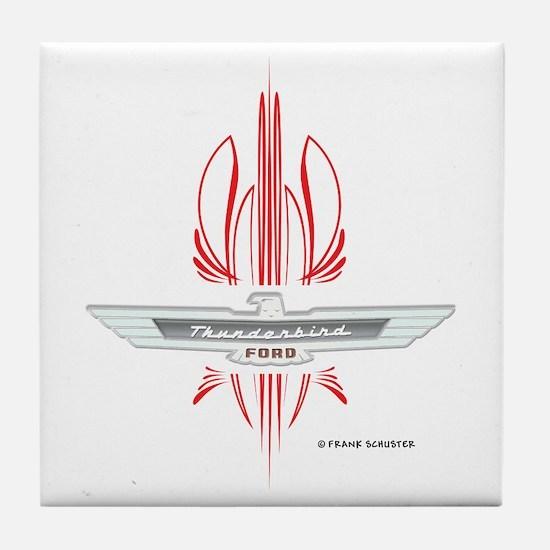 T Bird Emblem Pinstripes Tile Coaster