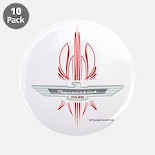 """T Bird Emblem Pinstripes 3.5"""" Button (10 pack)"""