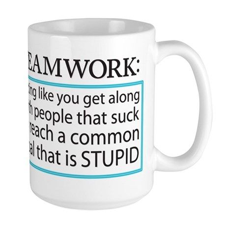 Teamwork Large Mug