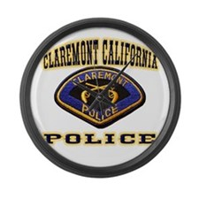 Claremont California Police Large Wall Clock