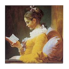 Fragonard - A Young Girl Reading Art Tile Coaster